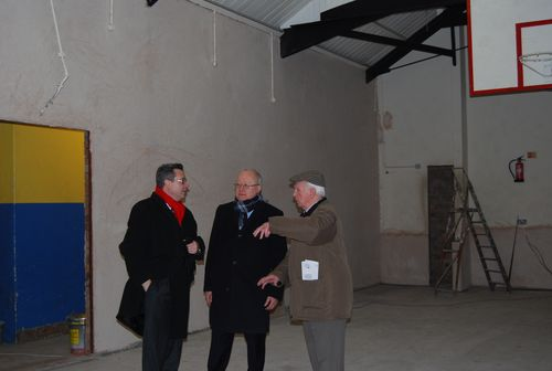 Leighton Andrews and Huw Lewis at Ton Pentre and Gelli Boys and Girls Club 25 02 2013